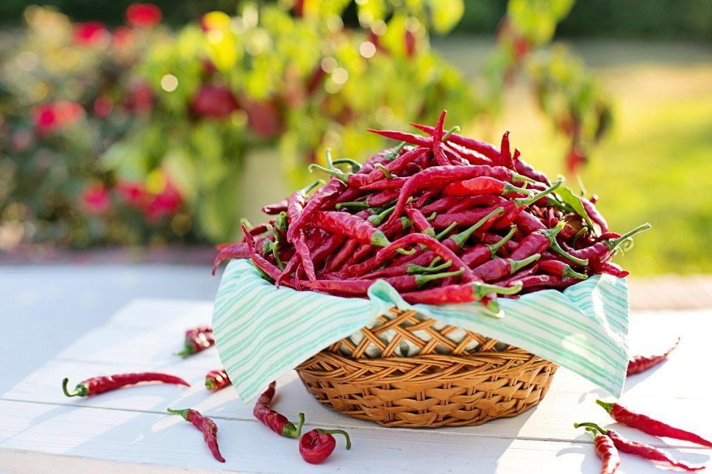 papryczka chili w koszyczku