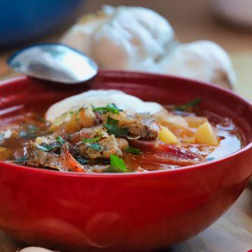Zupa z botwiny z ziemniakami — przepis